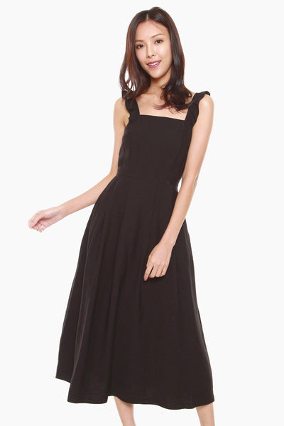 Jermaine Fit & Flare Dress in Black