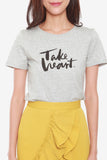 Take Heart T-Shirt in Grey