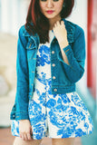 Cady Denim Jacket in Dark Blue - Mint Ooak - Jacket - 1