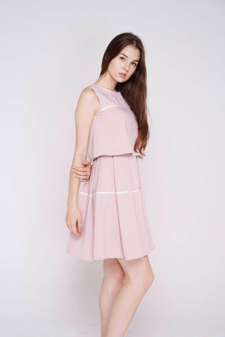 Alvery Crop Top Skater in Blush