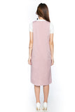 Dlia Pina Shift Midi In Blush