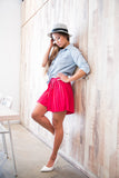 Christy Pleated Skorts In Red - Mint Ooak - Skorts - 3