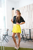 Christy Pleated Skorts In Lime - Mint Ooak - Skorts - 1