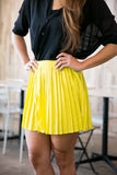 Christy Pleated Skorts In Lime - Mint Ooak - Skorts - 5