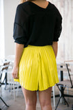 Christy Pleated Skorts In Lime - Mint Ooak - Skorts - 6