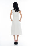 Button Pocket Midi in White