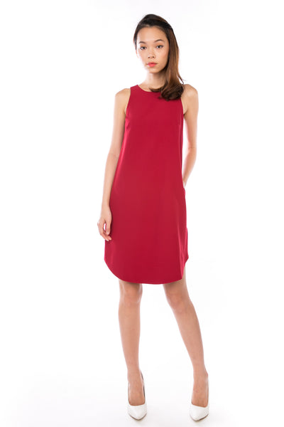 Shermaine Curved Hem Shift