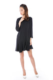 Kelly Assymetrically Ruffle Hem Sleeved Shift