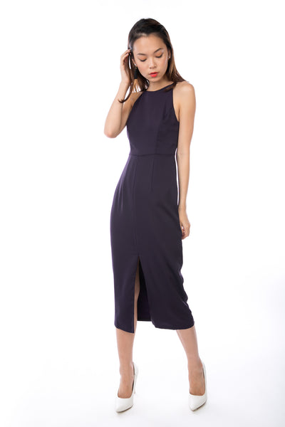 Chanelle Centre Split Maxi in Deep Purple