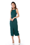 Chanelle Centre Split Maxi in Forest