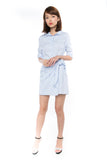 Esther Wrap Shirt Dress in Powder Blue - Mint Ooak - dress - 6