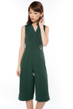That Chic Buckle Romper in Forest Green - Mint Ooak - One-piece, Romper, - 1