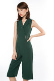 That Chic Buckle Romper in Forest Green - Mint Ooak - One-piece, Romper, - 3