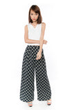 Bestly Abstract Print Wide Leg Pants In Blue - Mint Ooak - Bottom - 5