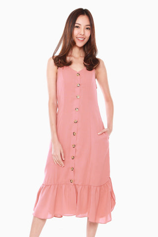 Camilia Reversible Dress in Rose