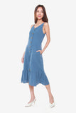 Camilia Reversible Dress in Powder Blue