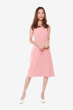 Grace Side Pleated Dress in Rose