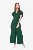 Sandy Wide Legged Jumpsuit in Forest