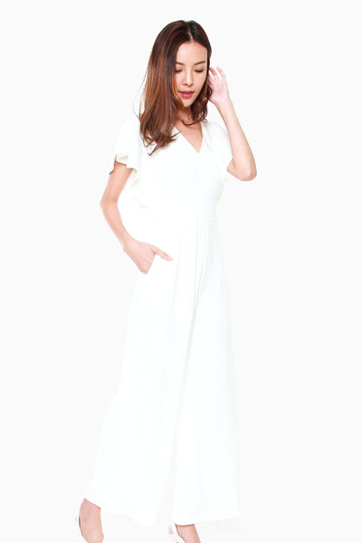 Sandy Wide Legged Jumpsuit in White
