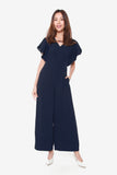 Sandy Wide Legged Jumpsuit in Navy