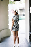 Tina Floral Sleeved Romper - Mint Ooak - Playsuit - 3