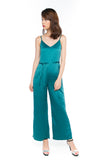 Ally Formal Sash Jumper in Emerald Green