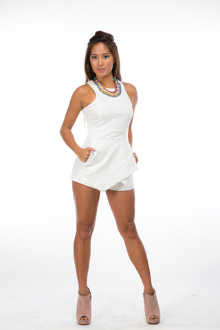 Piage Romper in white - Mint Ooak - Playsuit - 1