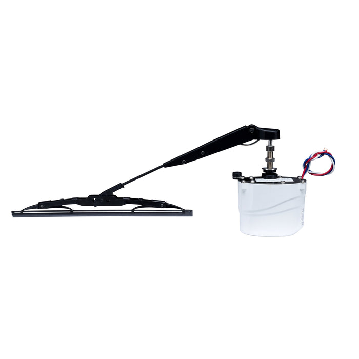 "SQ112080SSK - 12V Wiper System Kit - 80 Degree Sweep Wiper Motor, 11""-14"" Wiper Arm, and 11"" Wiper Blade"