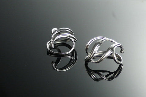 Burrs earrings in silver