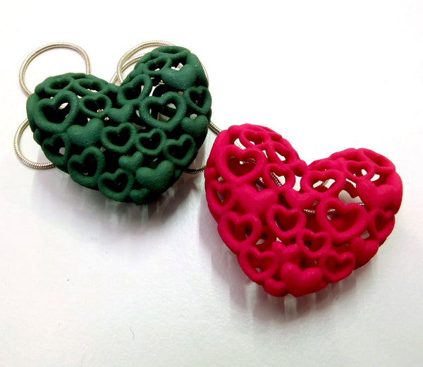 Heart by Heart pendant in Strong and Flexible Nylon