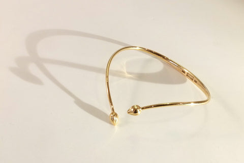 Chives bangle in gold
