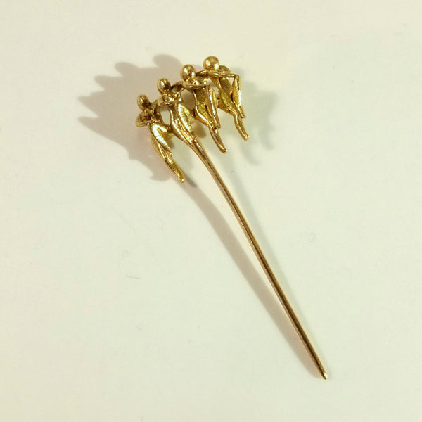 Cancan pin in gold
