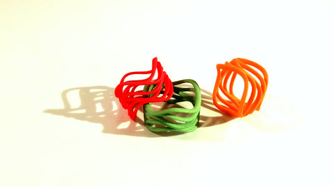 Skater's Parallel ring in colorful nylon