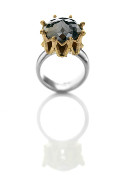 Crown and Black Diamond ring