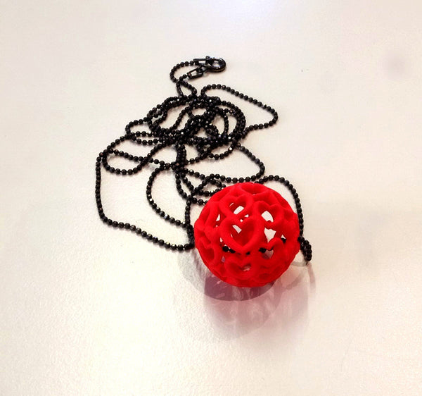 Heart Ball pendant in nylon