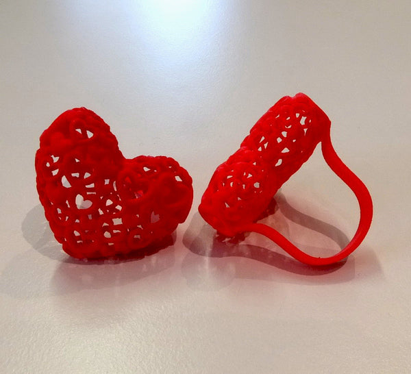 Heart on Your Finger ring in nylon