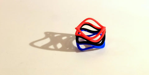 Waves Double ring in nylon