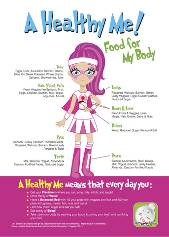 A Healthy Me Poster - Bella