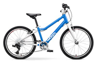 woom 4 Kinderrad 20 Zoll in blau