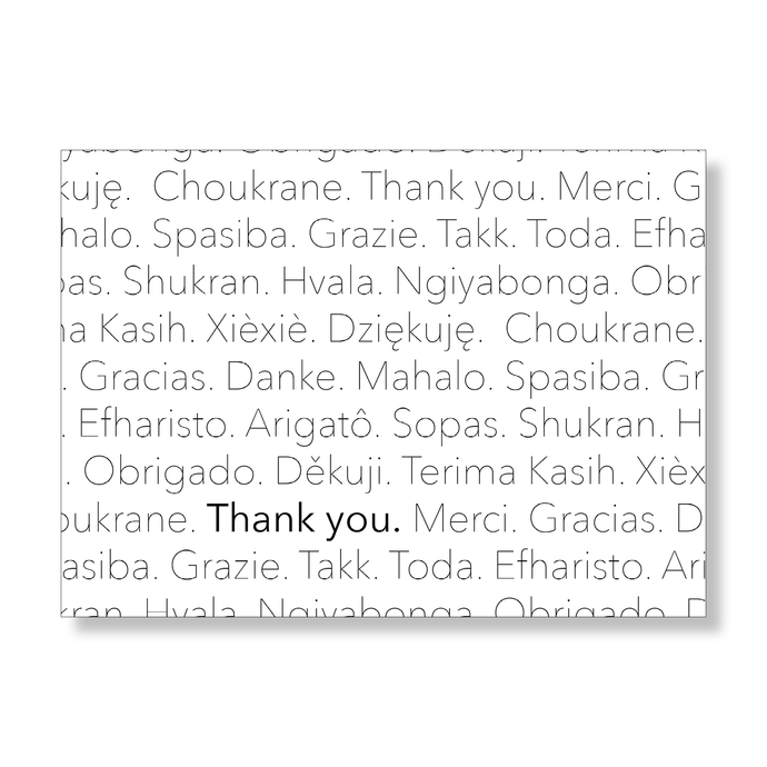 Multi-Lingual Thank You