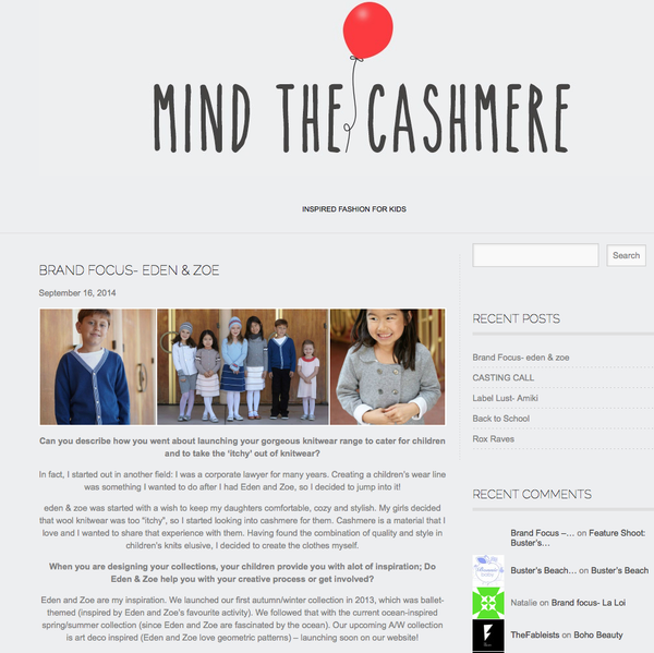 Mind the Cashmere