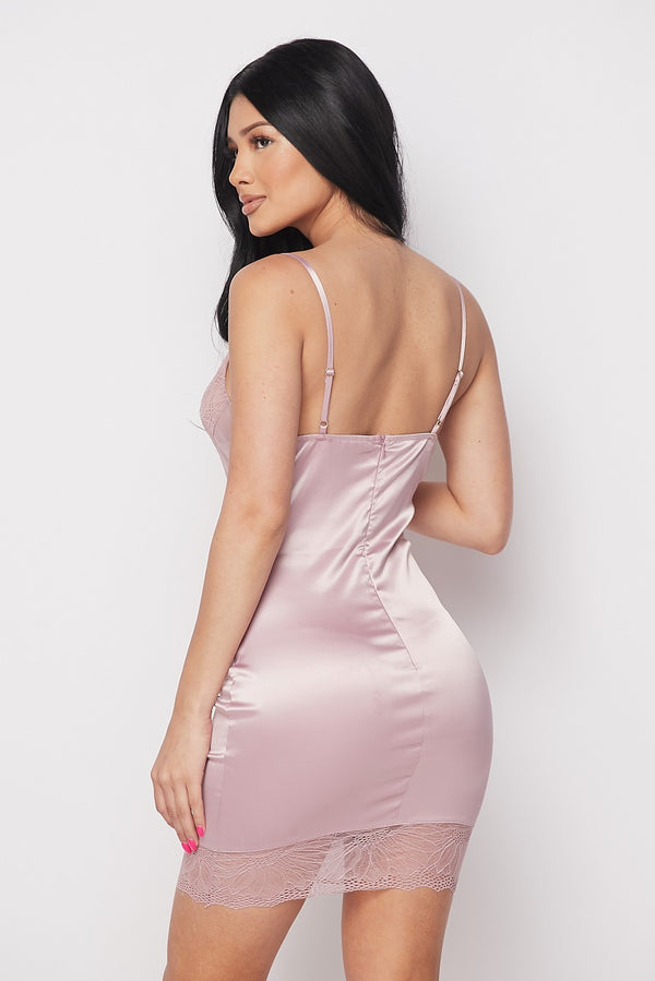 BLUSH SATIN MINI