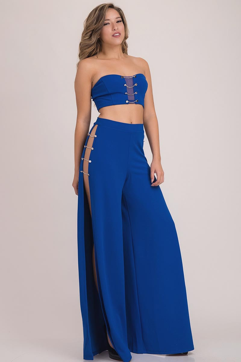 ROYAL SPLIT THIGH PANT SUIT