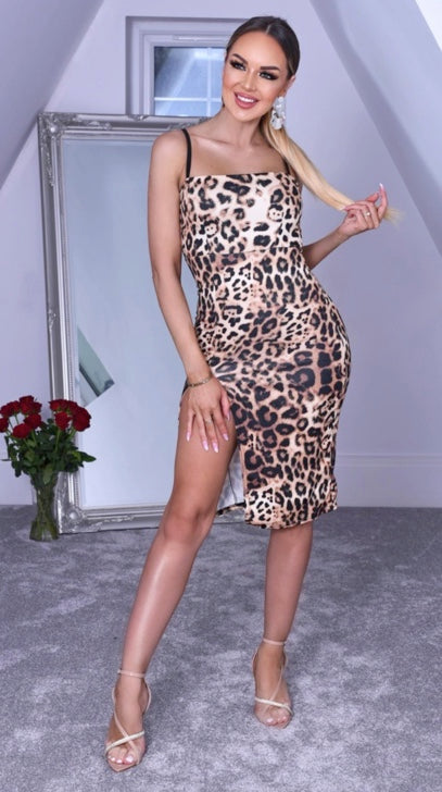 VASHTI ANIMAL PRINT BODYCON