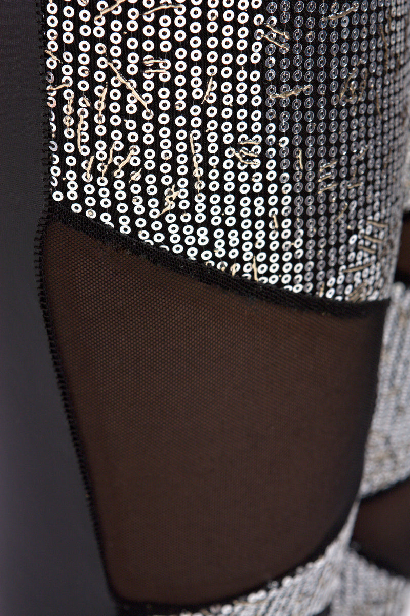 SEQUINS & SHEER LEGGINGS