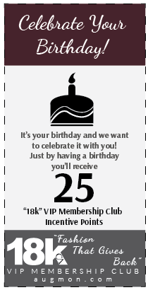 Get 25 18k VIP Membership Club Incentive Points card for celebrating your Birthday.