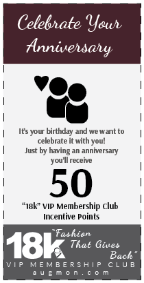 Get 50 18k VIP Membership Club Incentive Points card for celebrating your anniversary.