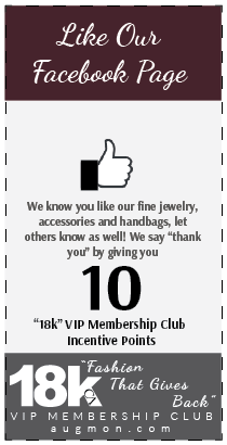 Get 10 18k VIP Membership Club Incentive Points card for liking our Facebook page.
