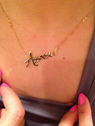 CA Custom 14K Yellow Gold Assassin Necklace