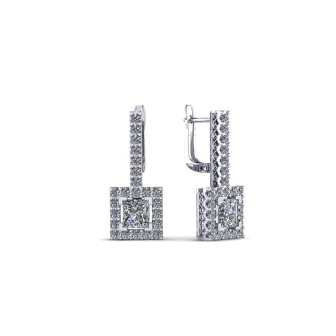 CA Custom Drip Diamond Ear Rings